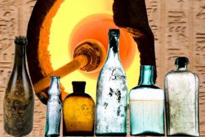 Skleněné nádoby se využívají již tisíce let. K vyfukování skla se používají sklářké píšťaly.